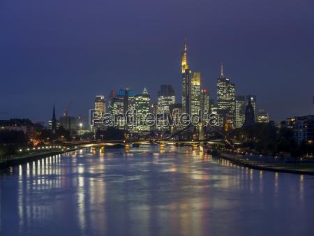 germany hesse view of frankfurt am