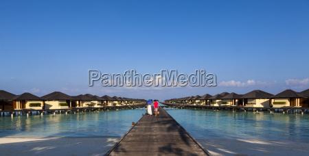 azja bungalowy wodne z paradise island