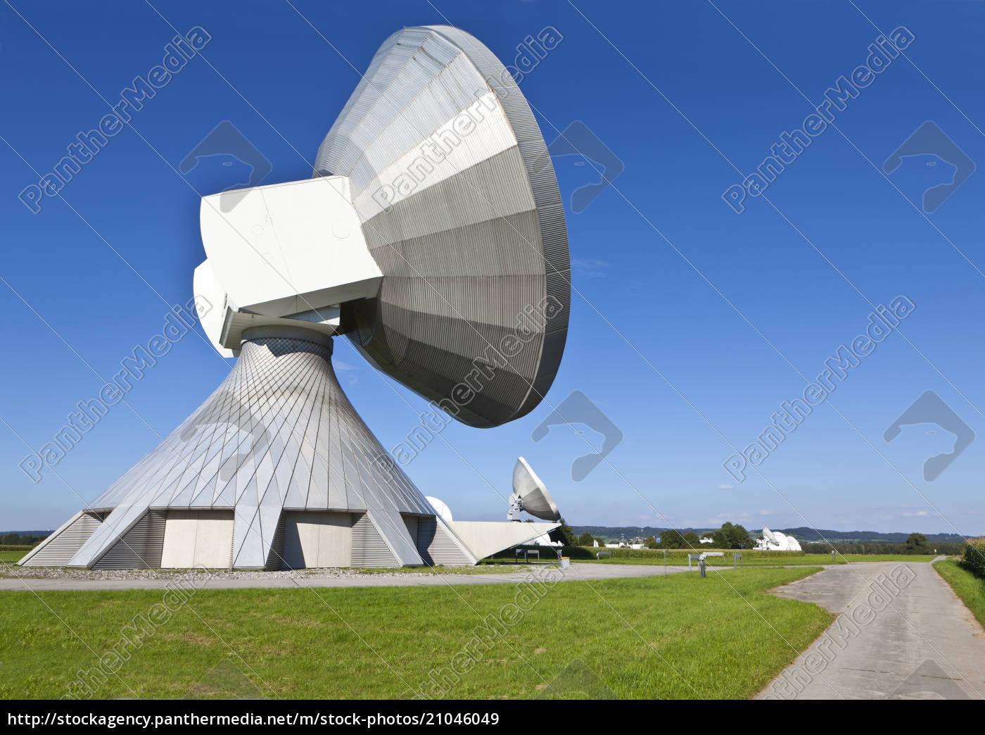 niemcy, bawaria, widok, na, dania, satelitarne - 21046049