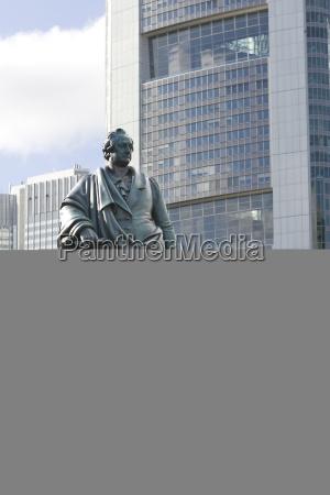 germany hesse frankfurt goethe memorial in