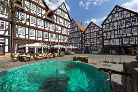 germany hesse melsungen market place restaurant