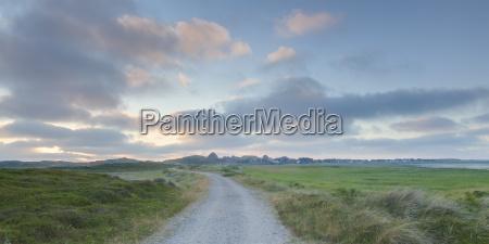 niemcy widok krajobraz z pustym sladem