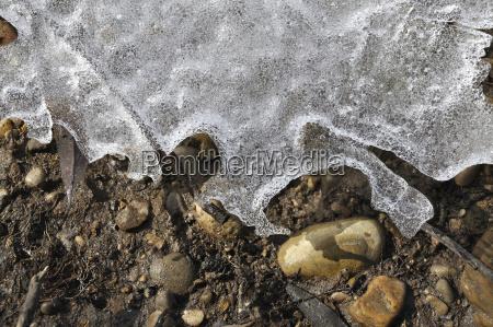 detal kamien pestka zima zimowy grunt