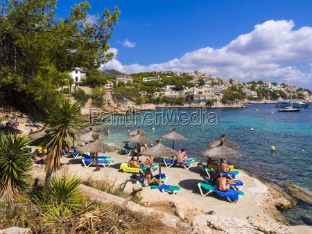 spain mallorca beach and bay of