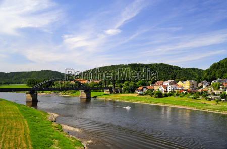 niemcy saksonia bad schandau rzeka laby
