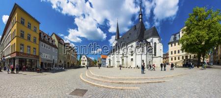 niemcy weimar herderplatz z kosciolem parafialnym