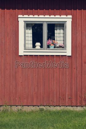 szwecja mora szczegoly typowy czerwony drewniany