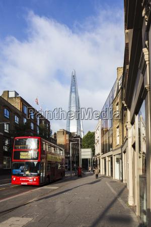 wielka brytania londyn widok na wiezowiec
