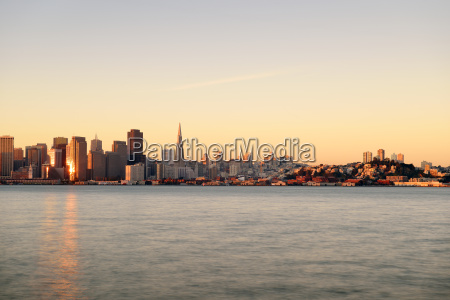 usa california san francisco skyline in