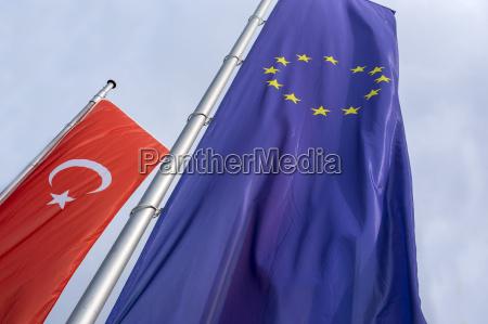 flaga turcji i ue