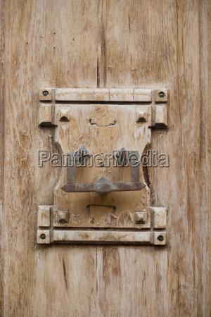 spain majorca valldemossa door knocker on