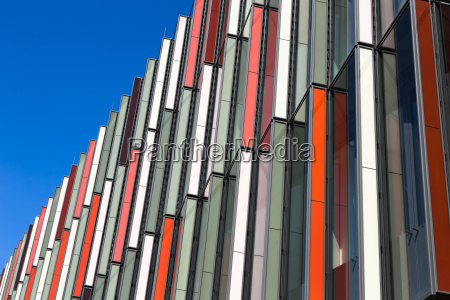 germany frankfurt detail of modern facade