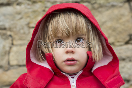 girl with hooded anorak