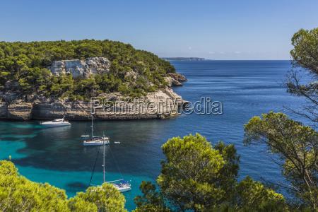 spain balearic islands menorca sailing boats