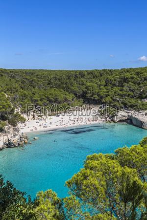 spain balearic islands menorca beach at