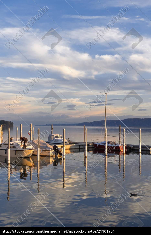 niemcy, badenia-wirtembergia, bodman-ludwigshafen, jezioro, uberling, marina - 21101951
