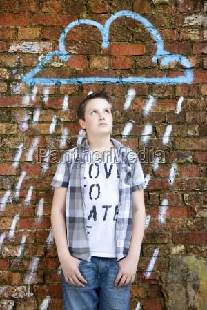 germany berlin teenage boy standing in