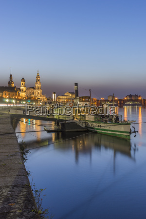 germany dresden moored steam boat on