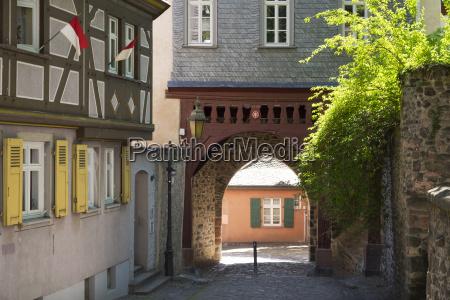 germany hesse frankfurt hoechst zollturm gate