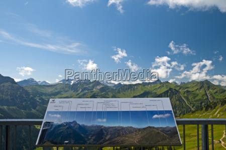 austria vorarlberg kleinwalsertal alpy alpy panorama