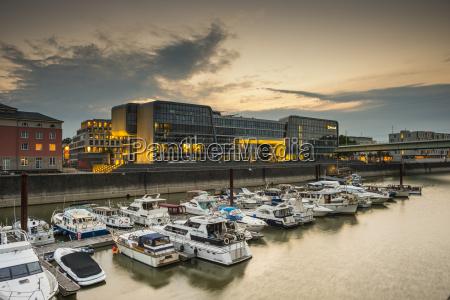 germany cologne rheinauhafen marina and microsoft