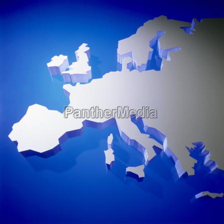 schematyczna mapa europy