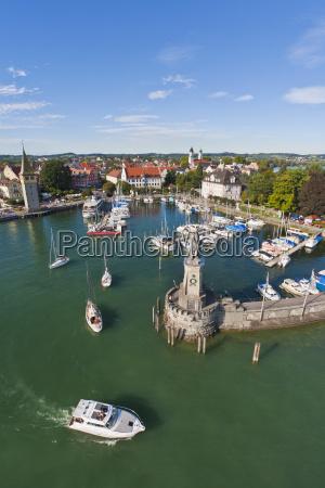 germany bavaria lindau view of port