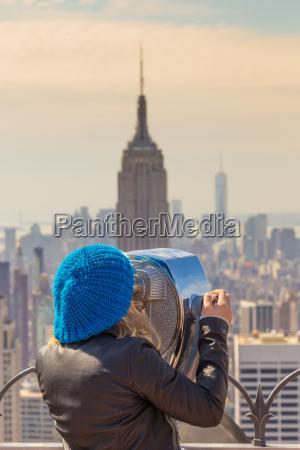 woman enjoying in new york city