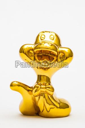 zwolniony zwierze statula zabawka zloty metal