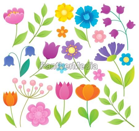 zestaw tematow stylizowanych kwiatow 1
