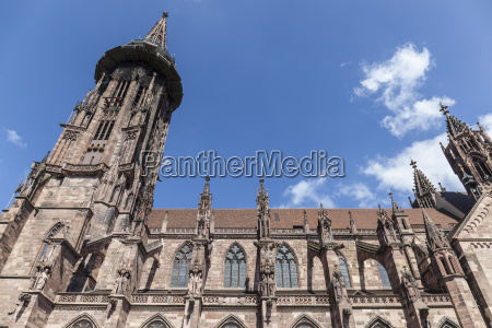 main tower of world famous freiburg