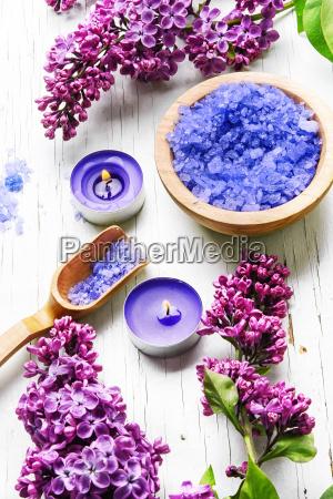 sol spa z liliowe kwiaty
