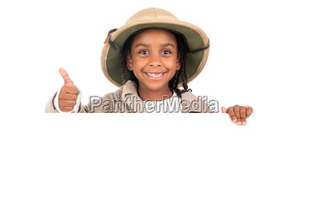 girl in safari costume