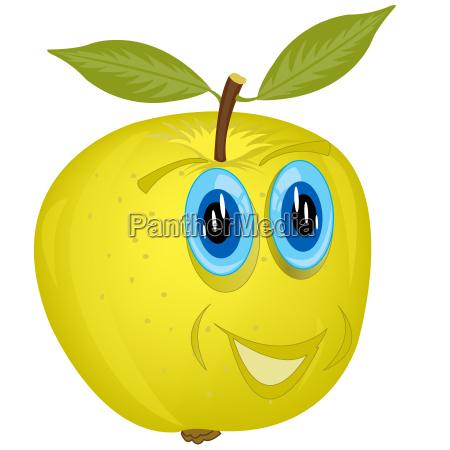 oko narzadow owoce basn animowane cartoon