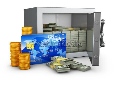sejf i karta kredytowa