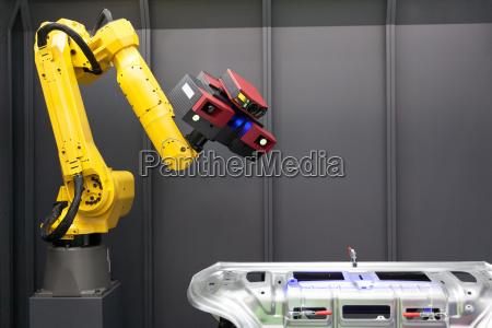 automatycznego skanowania skaner 3d zamontowany na