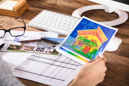 person analyzing the thermal image of