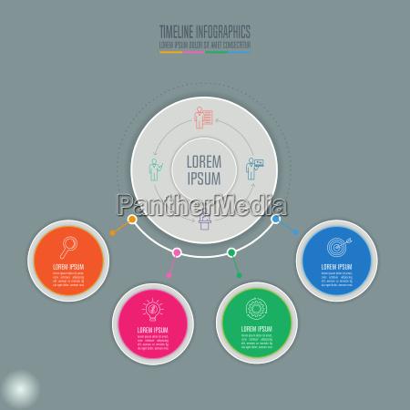 kreatywna koncepcja infografiki grafika z osia