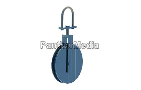 mechanika flaschenzug laufrad pulley ciagnac liny