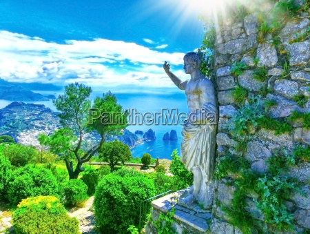 capri italy beautiful view on