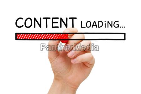 content loading bar concept