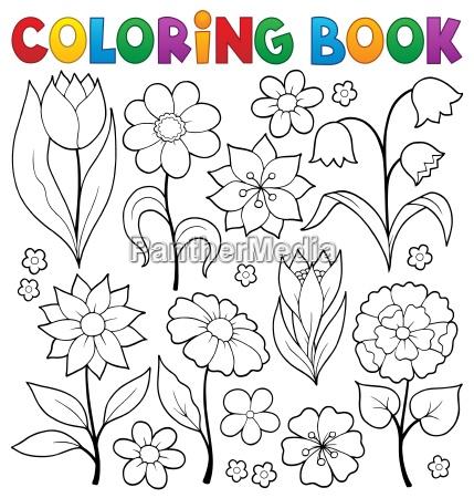 kolorowanka kwiat ksiazka temat 2