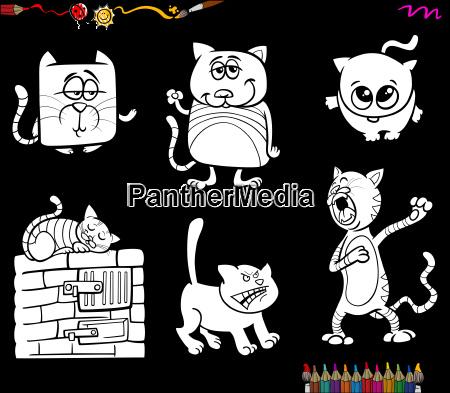 śmieszne Kot Kolorowanki Książki Stockphoto 22612665 Agencja