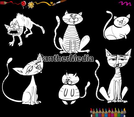 Kolorowanki Kot Cartoon Znaków Royalty Free Image 22612669