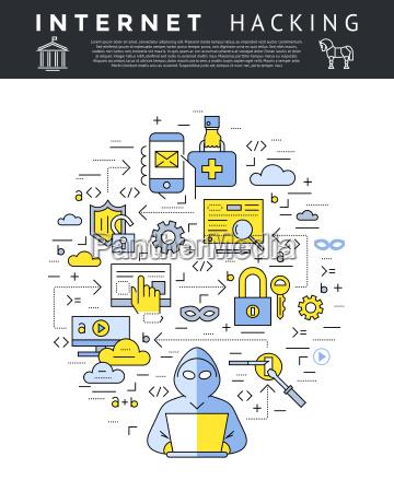 internet bezpieczenstwo dane cyfrowo ciagnione cyfrowy