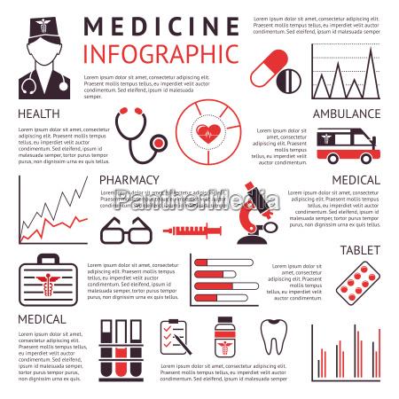 cyfrowy wektor czarna apteka medyczna zestaw