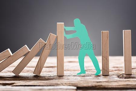 przystanek posiada pauza zapobieganie zatrzymac domino