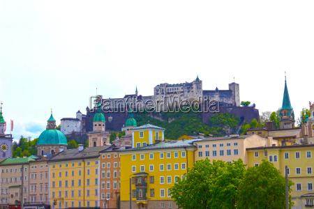 beautiful view of salzburg skyline with
