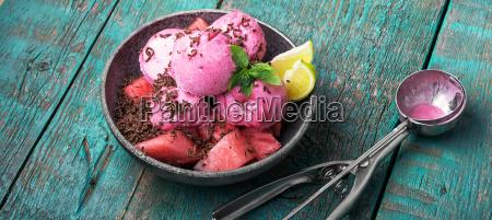 arbuz lody owocowe