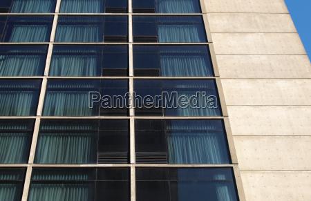 hotel building windows facade modern architecture